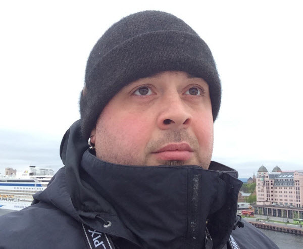 On the roof of the Oslo opera house May 2014